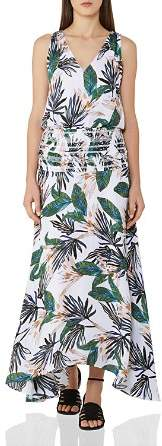 Reiss Maribel Printed Silk Maxi Dress