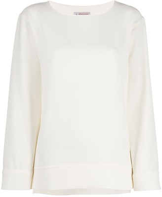 Alberto Biani Relaxed Long-Sleeve Blouse
