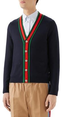 Gucci Web Wool Cardigan