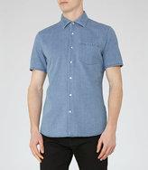 Reiss Kitt Short Sleeve Denim Shirt