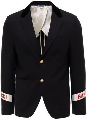 Gucci Logo Band Cuff Blazer