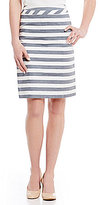 Alex Marie Martin Stripe Pencil Skirt