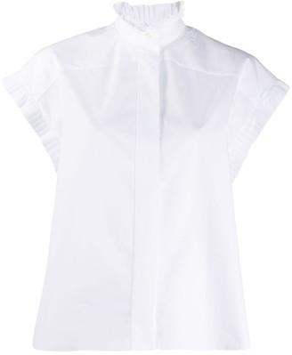 Alexandre Vauthier Short-Sleeved Pleated Shirt