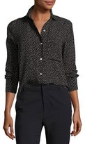 Vince Celestial Polka-Dot Slim Fit Blouse