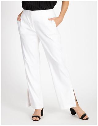 Basque Side Split Linen Pant
