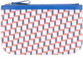 Pierre Hardy cube print clutch - men - Leather/Polyurethane - One Size