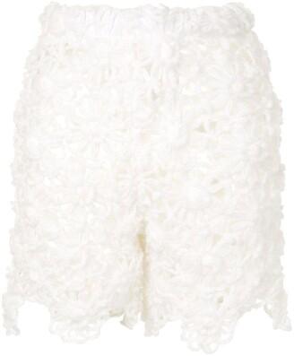 Comme Des Garçons Pre Owned Crochet Mini Shorts