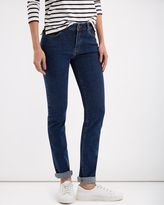Jaeger Straight Mid-Rise Jeans
