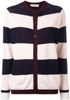Marni Riga striped cardigan - women - Cotton/nylon 12 - 42