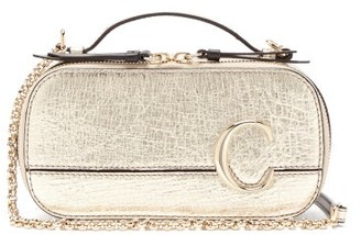 Chloé The C Structured Metallic-leather Cross-body Bag - Womens - Gold