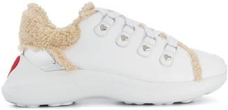 Love Moschino Faux Shearling Trim Sneakers