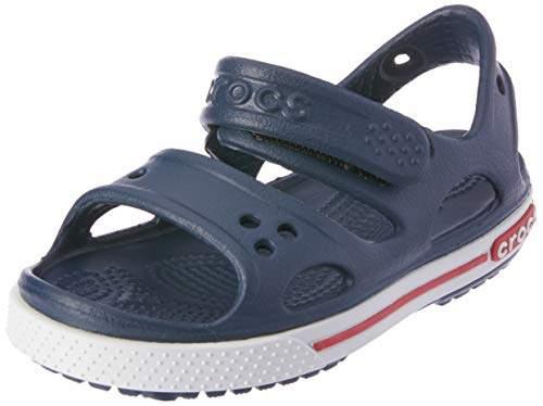 Crocs (クロックス) - [クロックス] サンダル クロックバンド 2.0 PS キッズ 14854 Navy/White C4(12.0cm)