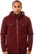 Nixon The Captain Quilted Jacket in Oxblood