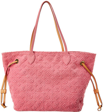 Louis Vuitton Pink Monogram Stone Canvas Neverfull Mm