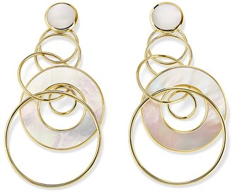 Ippolita 18kt yellow gold Polished Rock Candy slices & links pearl earrings