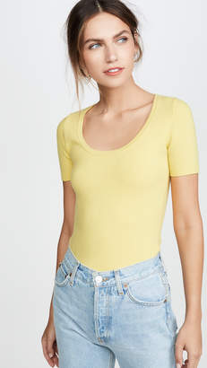 JoosTricot Scoop Neck Solid Peachskin Tee