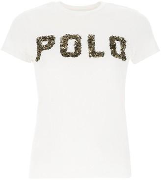 Polo Ralph Lauren Logo Embellished T-Shirt