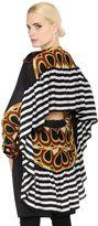 Givenchy Printed Silk Satin Long Blouse