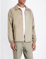 Obey Brand-logo shell jacket