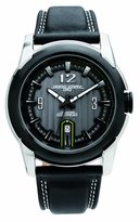 Jorg Gray Leather Charcoal Dial Men's watch #JG9400-24