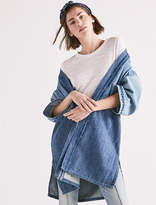 Lucky Brand Panelled Kimono W/Embr