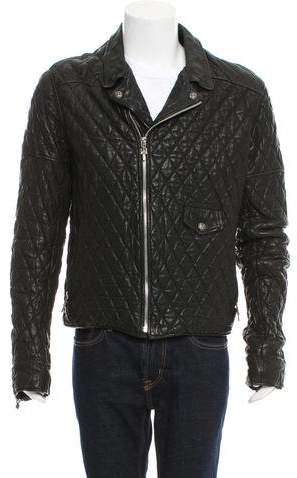 Chrome Hearts Quilted Leather Jacket