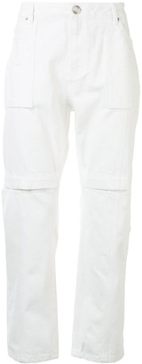 Juun.J Multi-Pocket Straight-Leg Trousers