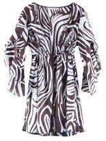 Leo Cover-Up in Zebra Camoflage Chocolate