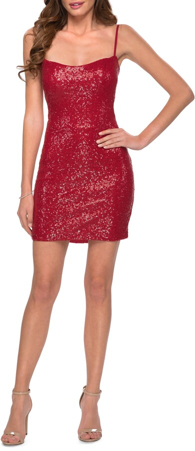 Thumbnail for your product : La Femme Sequin Sheath Dress
