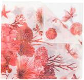 Roberto Cavalli sea creature scarf