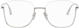 Balenciaga Silver Semi-Rimless Square Glasses