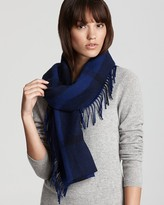 Burberry Happy Tonal Check Wool & Cashmere Scarf
