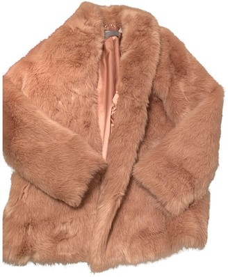 Asos Pink Faux fur Coat for Women