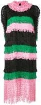 MSGM tweed fringe layer dress