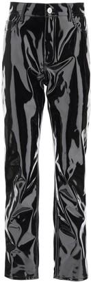 ATTICO Dua High Waist Vinyl Trousers