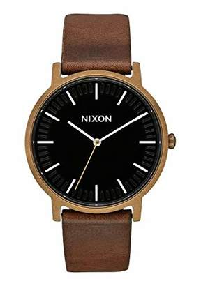 Nixon Unisex Adult Analogue Quartz Watch with Leather Strap A10583053-00
