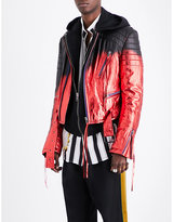 Haider Ackermann Spray-paint Leather Biker Jacket