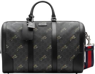 Gucci Logo Print Duffel Bag