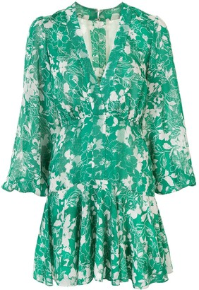 Alexis Long Sleeve Floral Print Dress