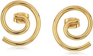 Soko Petite Swirl Stud Earrings (Gold-tone)