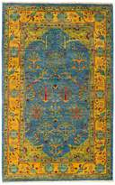 Solo Rugs Suzani Oriental Area Rug, 4'1 x 6'7