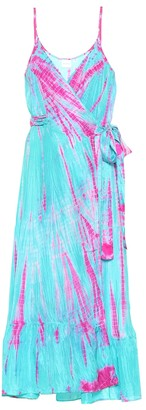 Anna Kosturova Tie-dye silk midi dress