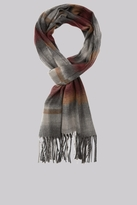Moss Bros Wine Ombre Check Scarf