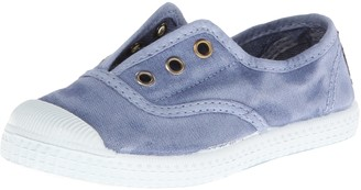 Cienta Kids Canvas Slip On Sneakers For Girls and Boys - Denim 22 EU (6 M US Toddler)