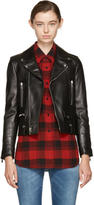 Saint Laurent Black Leather Classic Motorcycle Jacket