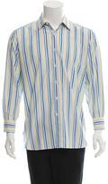 Brioni Striped Button-Up Shirt
