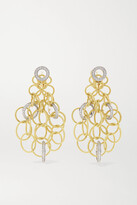 Thumbnail for your product : Buccellati Hawaii 18-karat Yellow And White Gold Diamond Earrings - one size