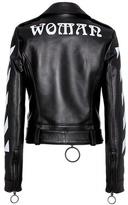 Off-White Diag leather biker jacket