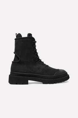 Salvatore Ferragamo Lace-up Suede Ankle Boots - Black