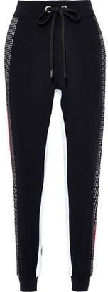 NO KA 'OI Perforated Striped Stretch-knit Track Pants